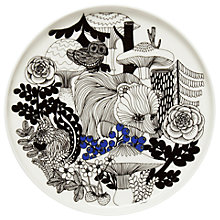 Buy Marimekko Veljekset Side Plate, White/Black/Blue, 20cm Online at johnlewis.com