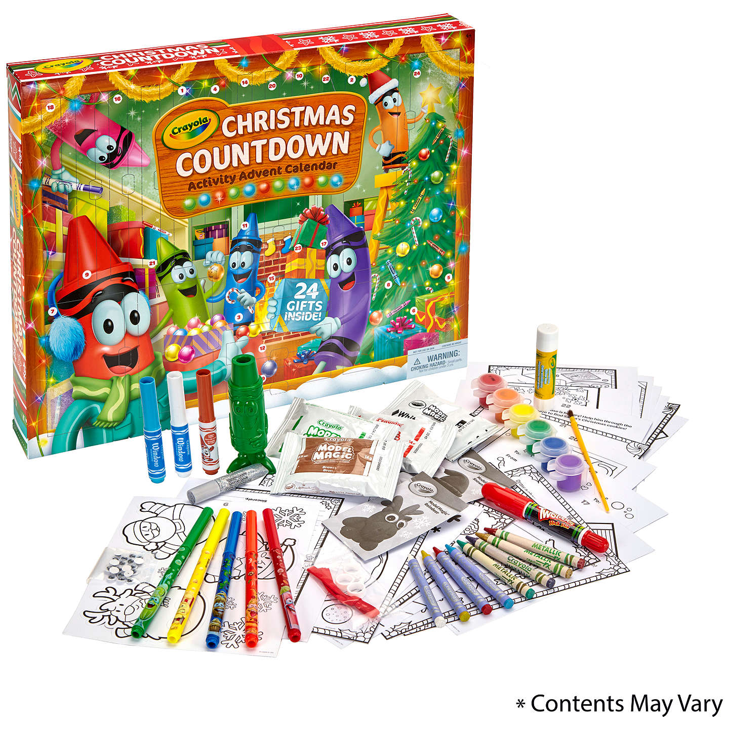 BuyCrayola Christmas Countdown Activity Advent Calendar Online at johnlewis.com