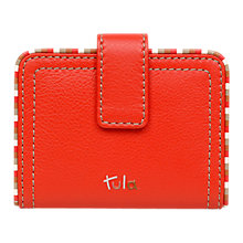 Buy Tula Mallory Leather Card Holder, Red Online at johnlewis.com