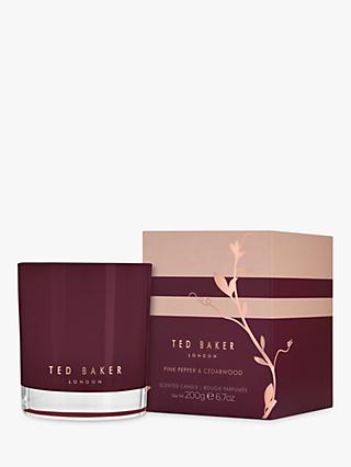Ted Baker Pink Pepper & Cedarwood Scented Candle