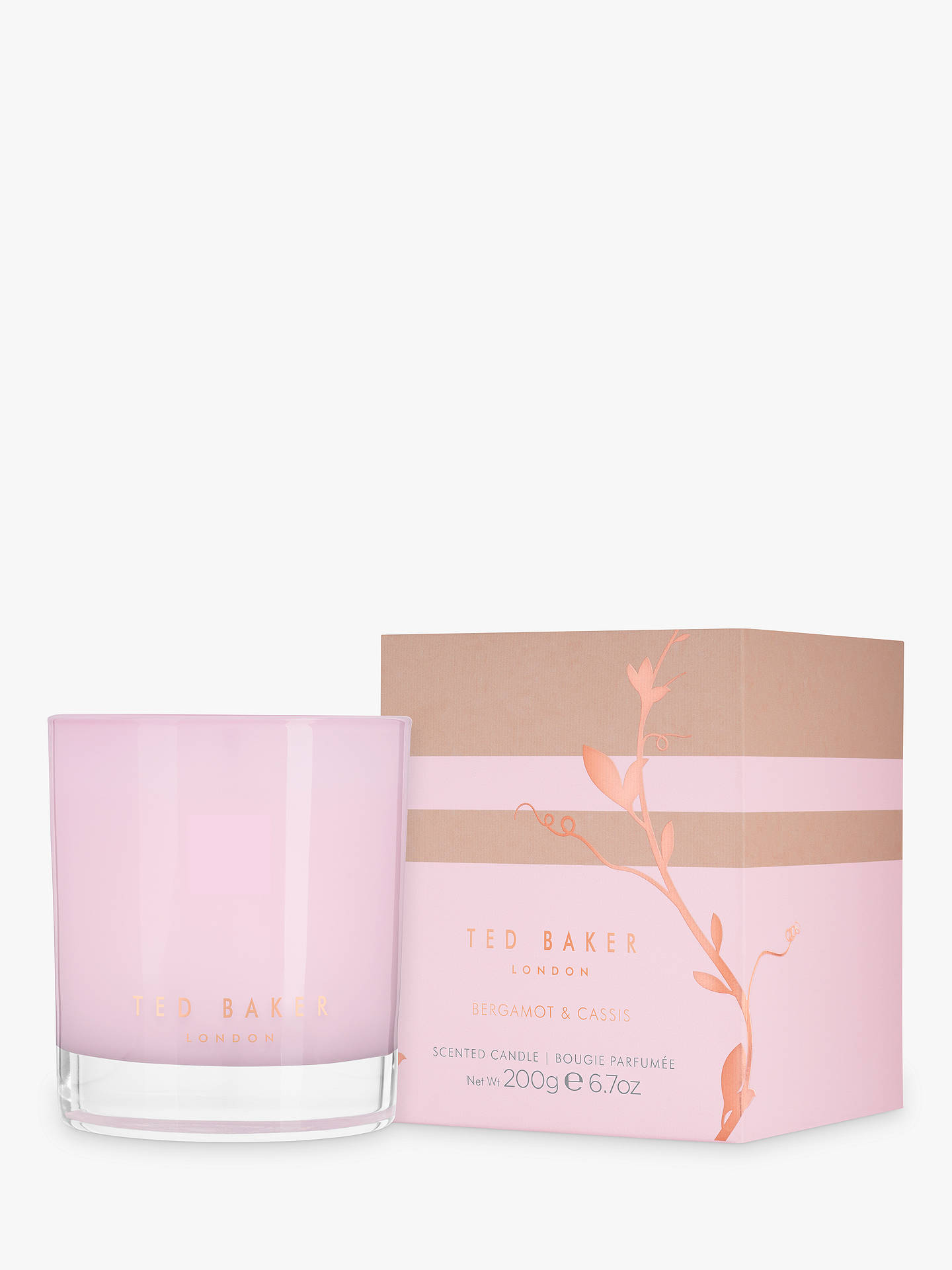 726379b96bddf Previous Image Next Image. Buy Ted Baker Bergamot   Cassis Scented Candle  Online at johnlewis. ...