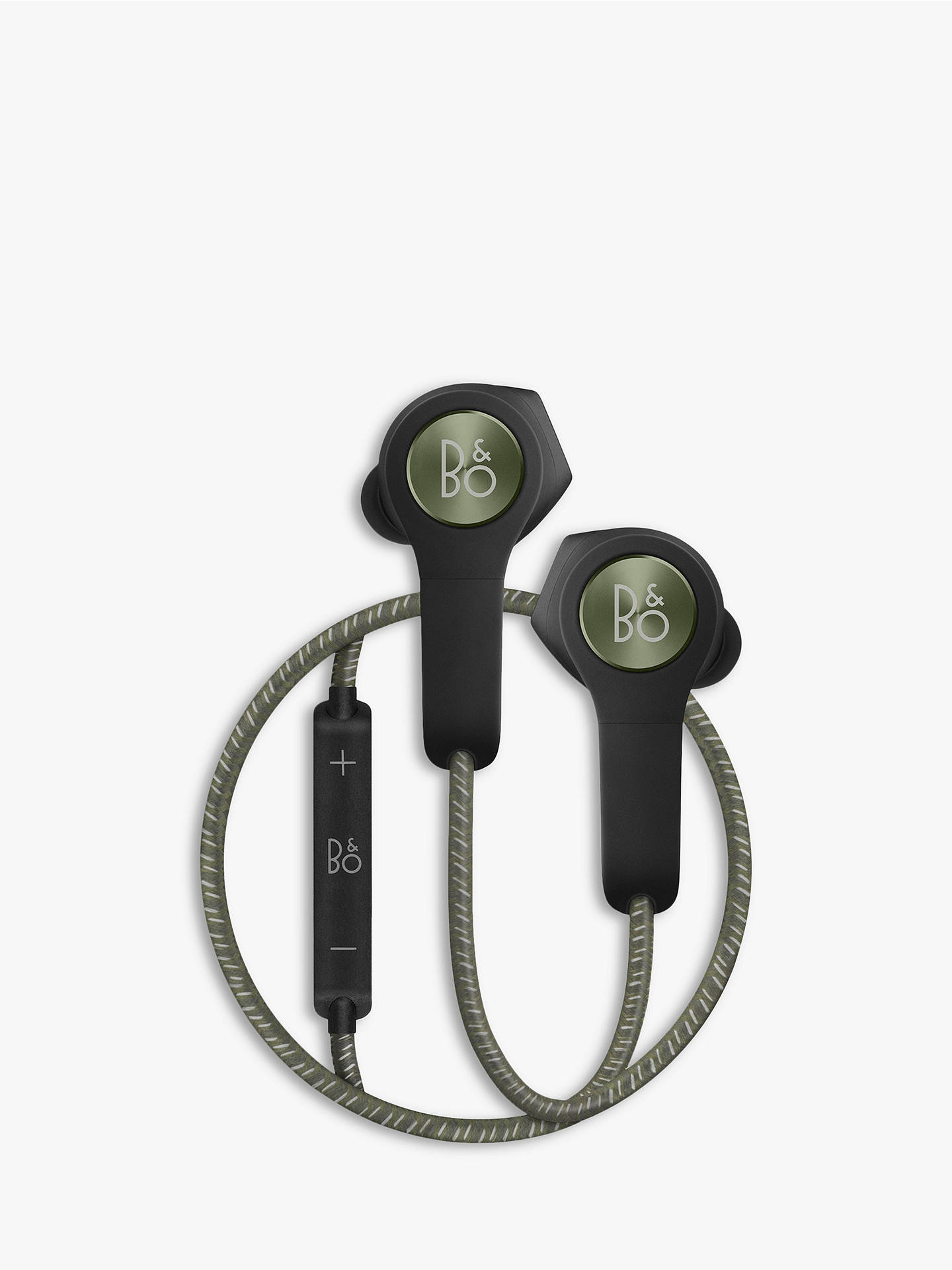 Buy Bang & Olufsen Beoplay H5 Wireless In-Ear Headphones with Ear Fins, Moss Green Online at johnlewis.com