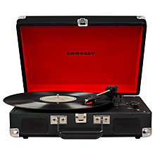 Buy Crosley Cruiser Deluxe Bluetooth Turntable with Three Speeds, Replacement Stylus & Vinyl Brush Online at johnlewis.com
