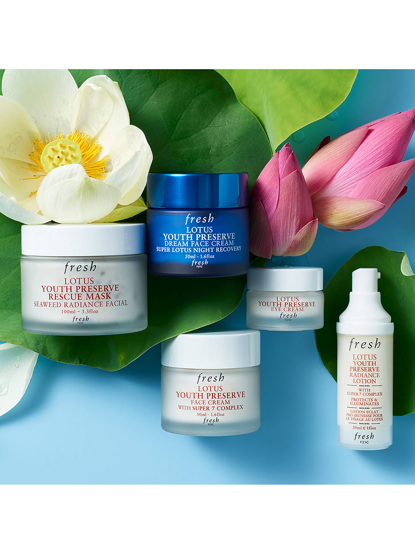 ba92446594ab ... Buy Fresh Lotus Youth Preserve Eye Cream with Super 7 Complex, 15ml  Online at johnlewis
