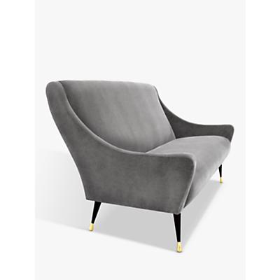 Duresta Carnaby Petite Sofa, Ebony and Gold Tipped Leg