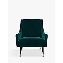 Buy Duresta Carnaby Armchair, Ebony and Gold Tipped Leg Online at johnlewis.com