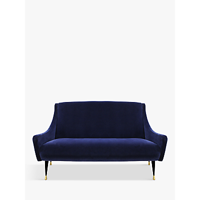 Duresta Carnaby Petite Sofa, Ebony and Gold Tipped Leg
