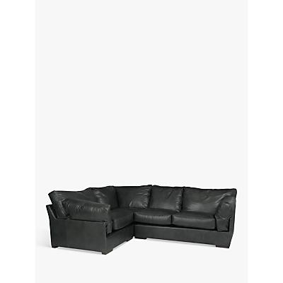 John Lewis & Partners Java LHF Corner Leather Sofa, Dark Leg