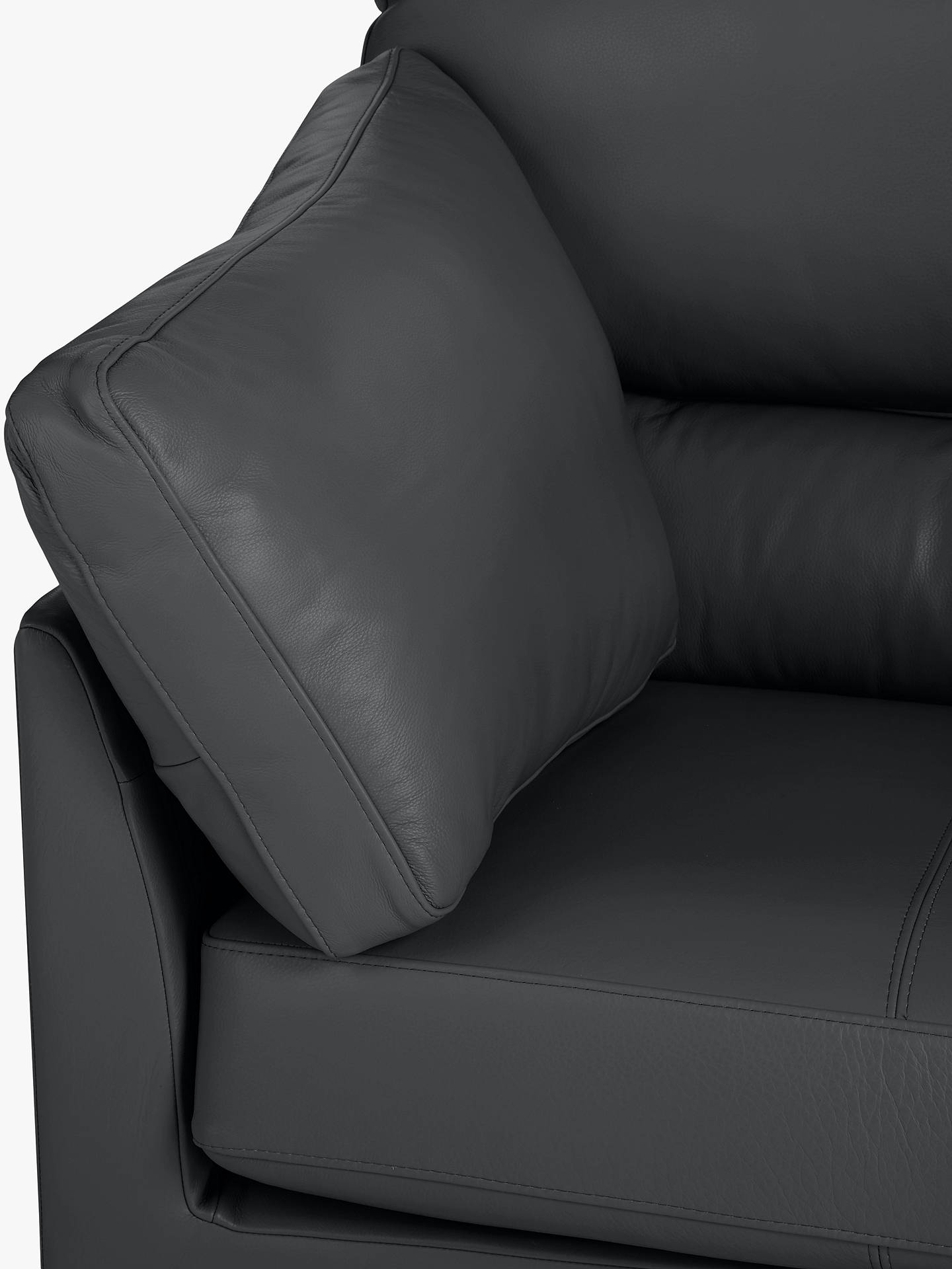 Buy John Lewis & Partners Ikon High Back Leather Armchair, Dark Leg, Winchester Anthracite Online at johnlewis.com