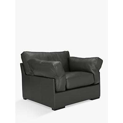 John Lewis Java Leather Armchair, Dark Leg, Winchester Anthracite Grey