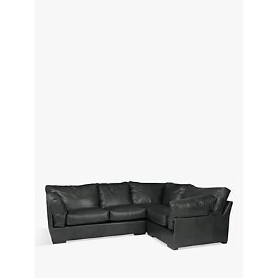 John Lewis & Partners Java RHF Leather Corner Sofa, Dark Leg