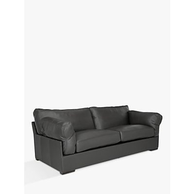John Lewis & Partners Java Grand 4 Seater Leather Sofa, Dark Leg