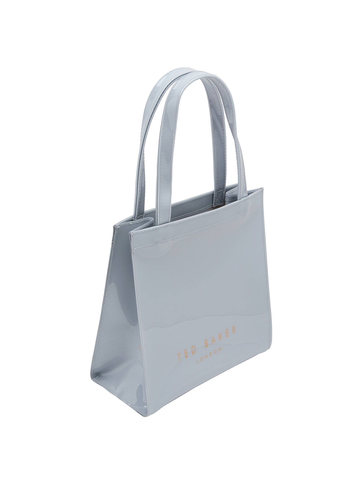 29a8f84b5a Buy Ted Baker Jenacon Bow Small Icon Shopper Bag, Light Grey Online at  johnlewis.