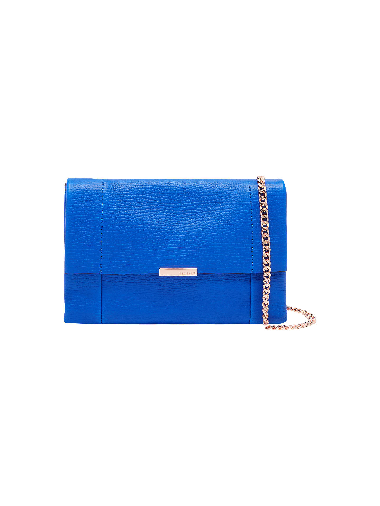 Buy Ted Baker Parson Leather Cross Body Bag, Bright Blue Online at johnlewis.com