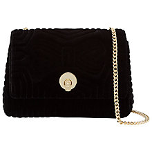 Buy Ted Baker Rachila Velvet Quilt Cross Body Bag Online at johnlewis.com