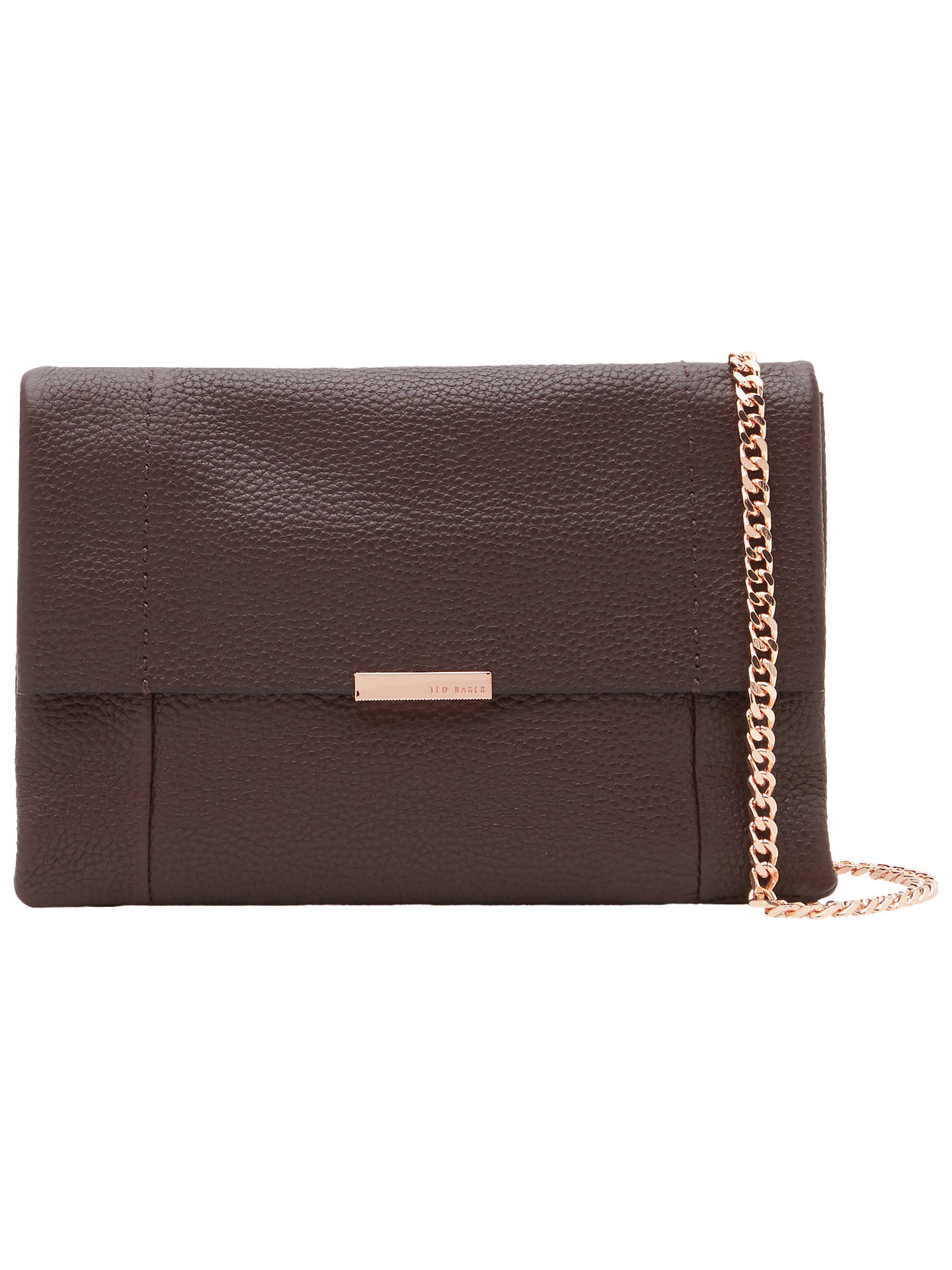 2369671ce8690 Ted Baker Parson Leather Cross Body Bag at John Lewis   Partners
