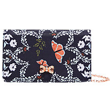 Buy Ted Baker Kailyn Kyoto Gardens Cross Body Bag, Mid Blue Online at johnlewis.com