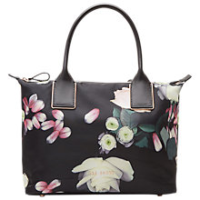 Buy Ted Baker Lunah Kensington Small Tote Bag, Black Online at johnlewis.com