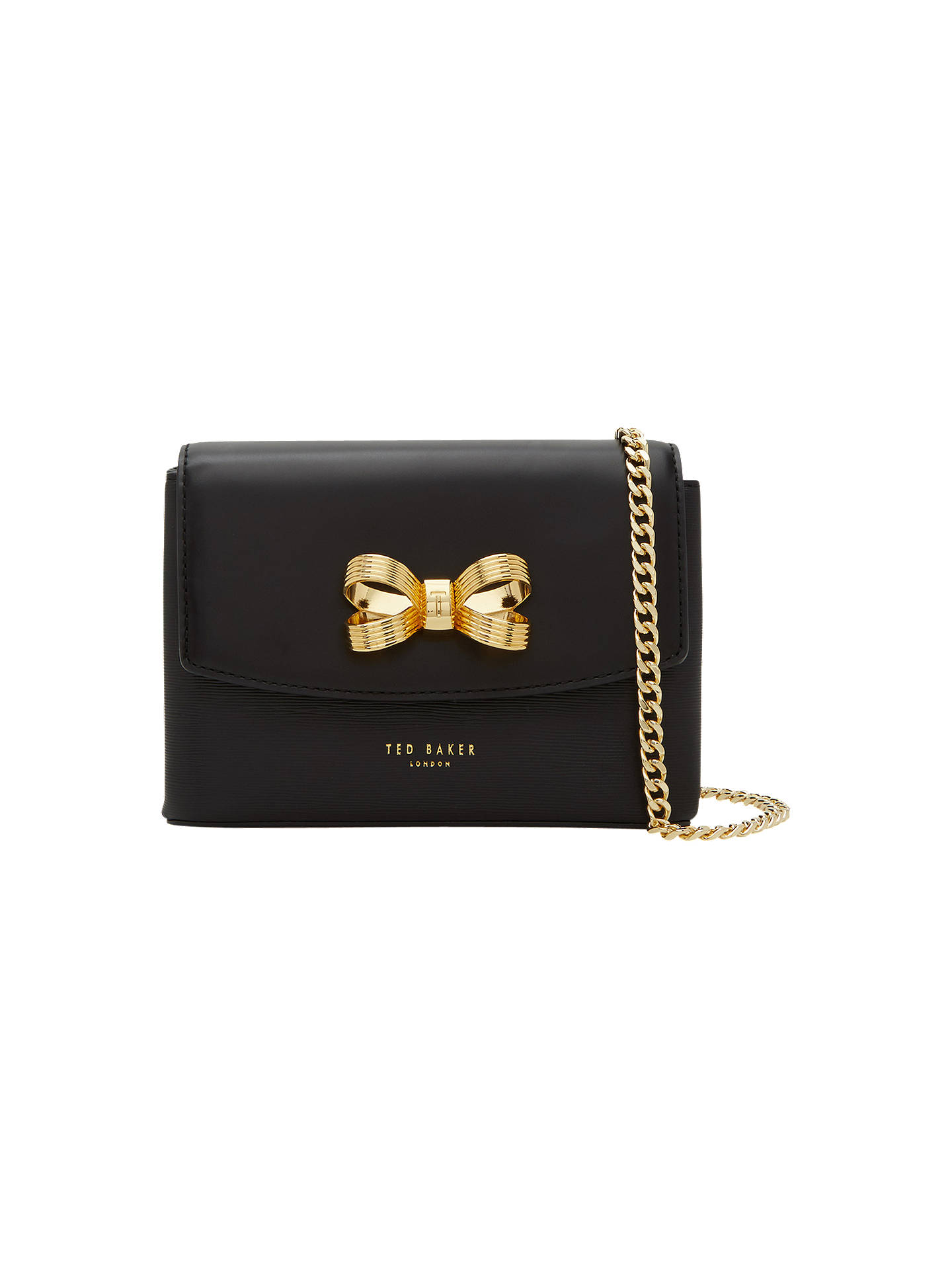 ae7357f13a15f Ted Baker Leorr Bow Leather Mini Cross Body Bag at John Lewis   Partners
