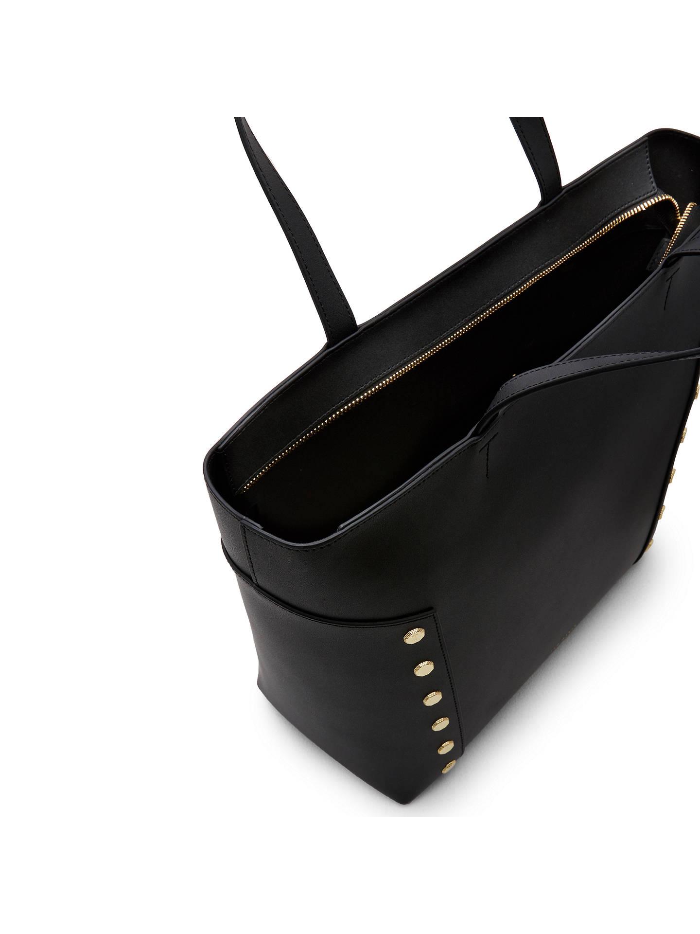 e75ad30da Ted Baker Tamiko Stud Edge Leather Shopper Bag at John Lewis   Partners
