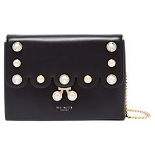 Buy Ted Baker Saraa Pearl Embellished Leather Cross Body Bag Online at johnlewis.com