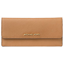 Buy MICHAEL Michael Kors Jet Set Travel Leather Flapover Wallet Online at johnlewis.com
