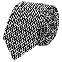Buy Reiss Isor Zig Zag Woven Silk Tie, Black/White Online at johnlewis.com