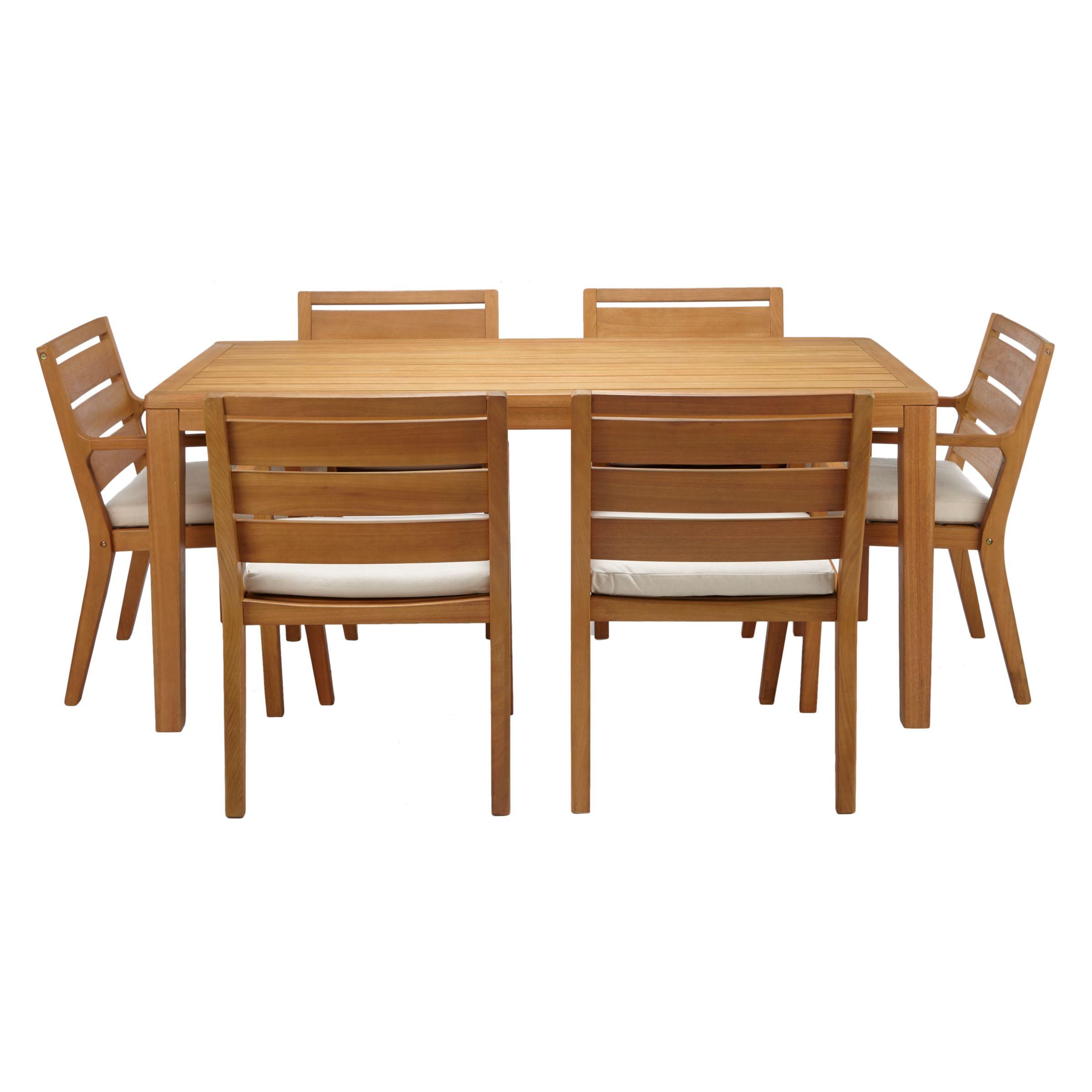 John Lewis & Partners Alta 9 Seat Garden Dining Table / Chairs Set,  FSC Certified Eucalyptus Wood, Natural