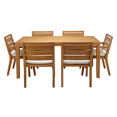 John Lewis Alta 6-Seater Outdoor Dining Table and Chairs Set, FSC-certified (Eucalyptus Wood), Natural