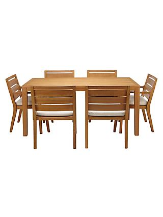 John Lewis & Partners Alta 6 Seat Garden Dining Table / Chairs Set, FSC-Certified (Eucalyptus Wood), Natural