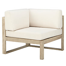 Buy John Lewis St Ives Outdoor Corner Chair with Cushions, FSC-Certified (Eucalyptus Wood), Natural Online at johnlewis.com