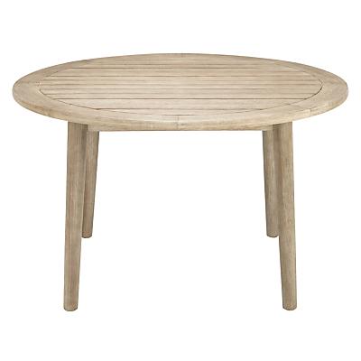 John Lewis Eden 4-Seater Outdoor Round Dining Table, FSC-Certified (Eucalyptus), Salima Wash