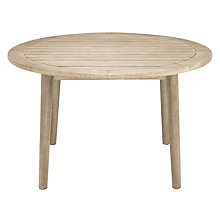 Buy John Lewis Eden 4-Seater Outdoor Round Dining Table, FSC-certified (Karri Gum Wood), Salima Wash Online at johnlewis.com