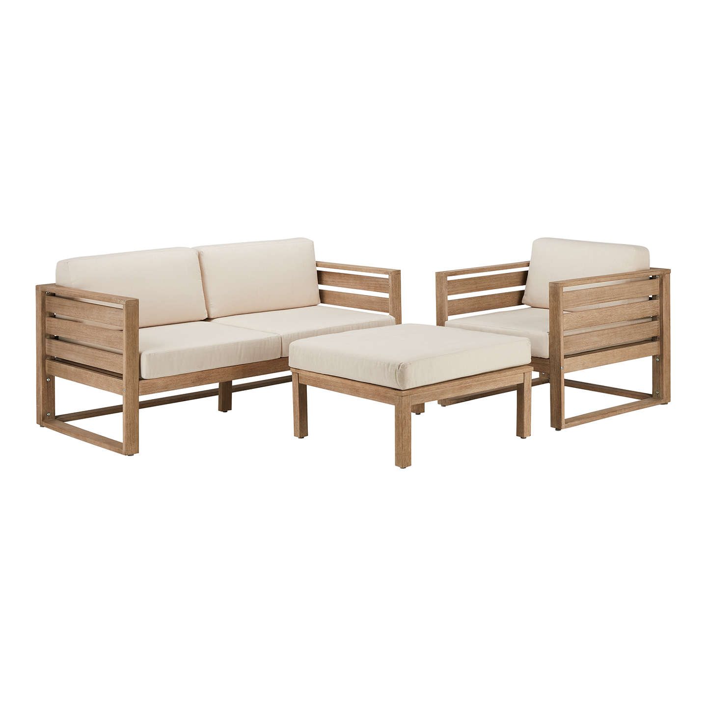 ... BuyJohn Lewis St Ives 2 Seater Outdoor Lounging Sofa, FSC Certified  (Eucalyptus ...