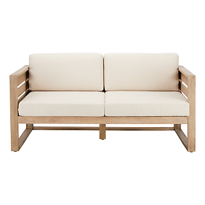 John Lewis St Ives 2-Seater Outdoor Lounging Sofa, FSC-certified (Eucalyptus Wood), Natural