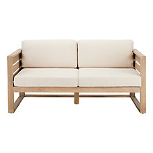 Buy John Lewis St Ives 2-Seater Outdoor Lounging Sofa, FSC-certified (Eucalyptus Wood), Natural Online at johnlewis.com