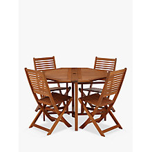 Buy John Lewis Venice 4-Seater Balcony Table and Chairs Set, FSC-certified (Eucalyptus Wood), Natural Online at johnlewis.com