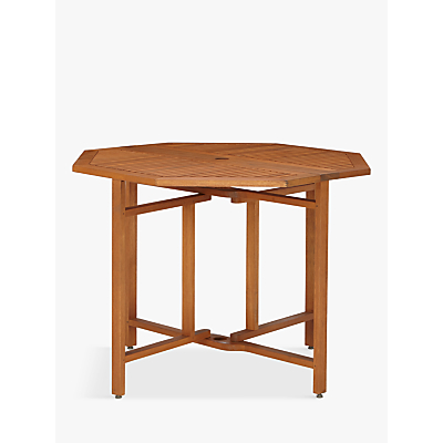 John Lewis Venice 4-Seater Balcony Table, FSC-certified (Eucalyptus Wood), Natural