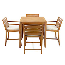 Buy John Lewis Alta 4-Seater High Dining Table and Chairs Set, FSC-certified (Eucalyptus Wood), Natural Online at johnlewis.com