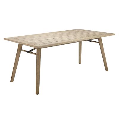 John Lewis & Partners Eden 6-Seater Outdoor Dining Table, FSC-Certified (Eucalyptus), Salima Wash