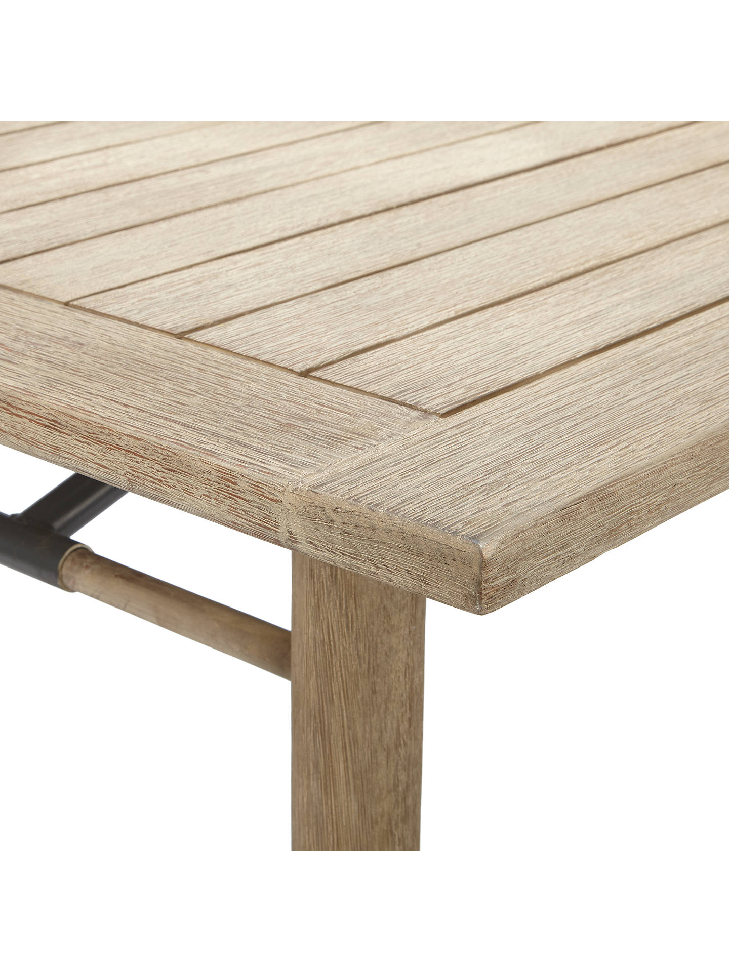 BuyJohn Lewis & Partners Eden 6-Seater Outdoor Dining Table, FSC-Certified (Eucalyptus), Salima Wash Online at johnlewis.com