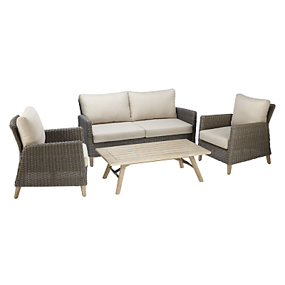 John Lewis Eden 4-Seater Outdoor Lounging Set, FSC-Certified (Eucalyptus), Salima Wash