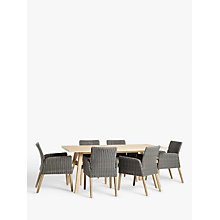 Buy John Lewis Eden Outdoor Dining Chairs, FSC-Certified (Eucalyptus), Salima Wash, Set of 2 Online at johnlewis.com