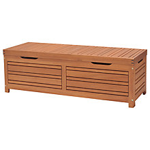 Buy John Lewis Venice Cushion Storage Box and Bench, FSC-certified (Eucalyptus Wood), Natural Online at johnlewis.com