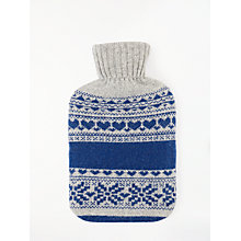 Buy John Lewis Fair Isle Knit Hot Water Bottle, Blue/Grey Online at johnlewis.com