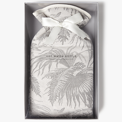 John Lewis Fern Print Hot Water Bottle, Grey