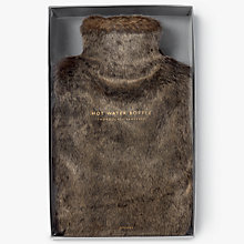 Buy John Lewis Extra Soft Faux Fur Hot Water Bottle Online at johnlewis.com