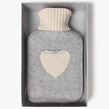 Buy John Lewis Heart Knit Hot Water Bottle, Grey/Pink Online at johnlewis.com