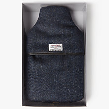 Buy John Lewis Harris Tweed Herringbone Hot Water Bottle, Navy Online at johnlewis.com