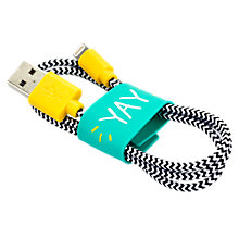 Buy Happy Jackson Yay Lightning Cable Online at johnlewis.com
